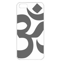Hindu Om Symbol (dark Gray)  Apple Iphone 5 Seamless Case (white) by abbeyz71
