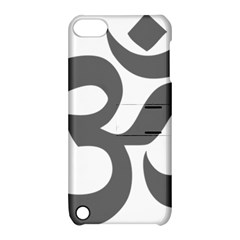 Hindu Om Symbol (dark Gray)  Apple Ipod Touch 5 Hardshell Case With Stand by abbeyz71