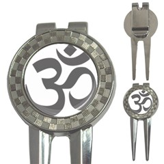 Hindu Om Symbol (dark Gray)  3 In 1 Golf Divots by abbeyz71