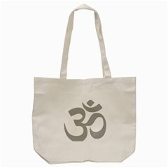 Hindu Om Symbol (light Gray) Tote Bag (cream) by abbeyz71