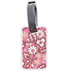 Pink Flower Pattern Luggage Tags (two Sides)