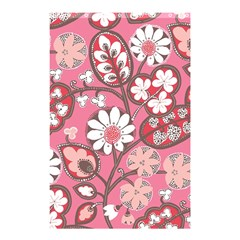 Pink Flower Pattern Shower Curtain 48  X 72  (small)  by Nexatart
