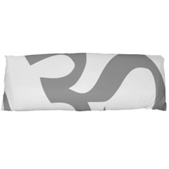 Hindu Om Symbol (light Gray) Body Pillow Case (dakimakura) by abbeyz71