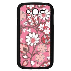 Pink Flower Pattern Samsung Galaxy Grand Duos I9082 Case (black)