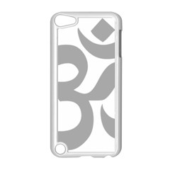 Hindu Om Symbol (light Gray) Apple Ipod Touch 5 Case (white) by abbeyz71