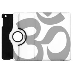 Hindu Om Symbol (light Gray) Apple Ipad Mini Flip 360 Case by abbeyz71