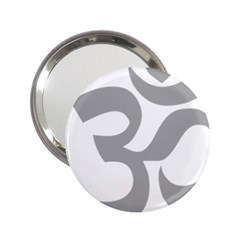 Hindu Om Symbol (light Gray) 2 25  Handbag Mirrors by abbeyz71