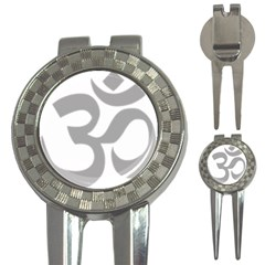 Hindu Om Symbol (light Gray) 3 In 1 Golf Divots by abbeyz71