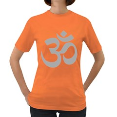 Hindu Om Symbol (light Gray) Women s Dark T-shirt by abbeyz71