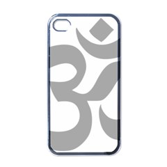 Hindu Om Symbol (light Gray) Apple Iphone 4 Case (black) by abbeyz71