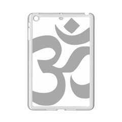 Hindu Om Symbol (light Gray) Ipad Mini 2 Enamel Coated Cases by abbeyz71