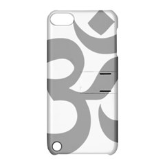 Hindu Om Symbol (light Gray) Apple Ipod Touch 5 Hardshell Case With Stand by abbeyz71