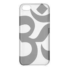 Hindu Om Symbol (light Gray) Apple Iphone 5c Hardshell Case by abbeyz71