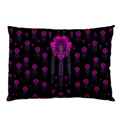Wonderful Jungle Flowers In The Dark Pillow Case by pepitasart