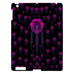 Wonderful Jungle Flowers In The Dark Apple Ipad 3/4 Hardshell Case by pepitasart