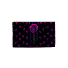 Wonderful Jungle Flowers In The Dark Cosmetic Bag (xs) by pepitasart
