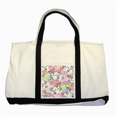 Unicorn Rainbow Two Tone Tote Bag by Nexatart