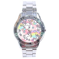 Unicorn Rainbow Stainless Steel Analogue Watch