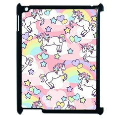 Unicorn Rainbow Apple Ipad 2 Case (black) by Nexatart