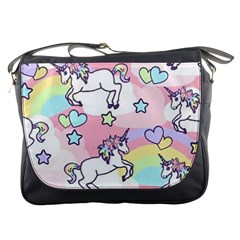 Unicorn Rainbow Messenger Bags by Nexatart