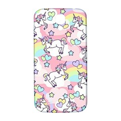 Unicorn Rainbow Samsung Galaxy S4 I9500/i9505  Hardshell Back Case by Nexatart