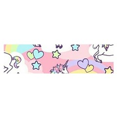 Unicorn Rainbow Satin Scarf (oblong)