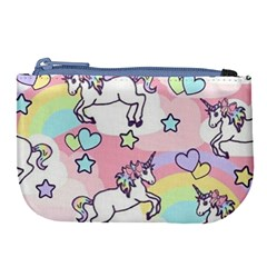 Unicorn Rainbow Large Coin Purse by Nexatart