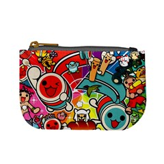 Cute Doodles Wallpaper Background Mini Coin Purses by Nexatart