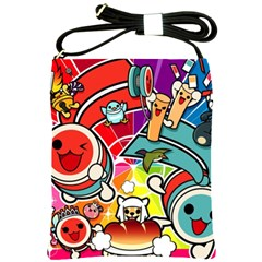 Cute Doodles Wallpaper Background Shoulder Sling Bags by Nexatart