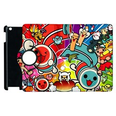 Cute Doodles Wallpaper Background Apple Ipad 2 Flip 360 Case by Nexatart