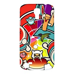 Cute Doodles Wallpaper Background Samsung Galaxy S4 I9500/i9505 Hardshell Case