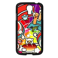 Cute Doodles Wallpaper Background Samsung Galaxy S4 I9500/ I9505 Case (black)