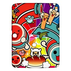 Cute Doodles Wallpaper Background Samsung Galaxy Tab 3 (10 1 ) P5200 Hardshell Case
