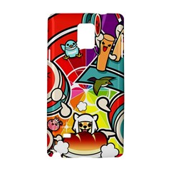 Cute Doodles Wallpaper Background Samsung Galaxy Note 4 Hardshell Case by Nexatart