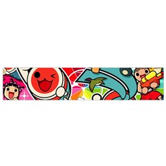 Cute Doodles Wallpaper Background Flano Scarf (small) by Nexatart