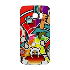 Cute Doodles Wallpaper Background Galaxy S6 Edge by Nexatart
