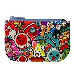 Cute Doodles Wallpaper Background Large Coin Purse by Nexatart