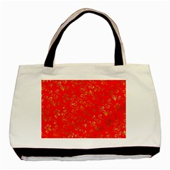 Golden Swrils Pattern Background Basic Tote Bag (two Sides) by Nexatart