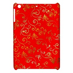 Golden Swrils Pattern Background Apple Ipad Mini Hardshell Case by Nexatart