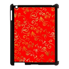 Golden Swrils Pattern Background Apple Ipad 3/4 Case (black)