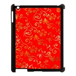Golden Swrils Pattern Background Apple iPad 3/4 Case (Black) Front