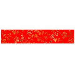 Golden Swrils Pattern Background Flano Scarf (large) by Nexatart