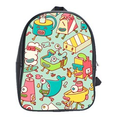 Summer Up Pattern School Bags(large)  by Nexatart