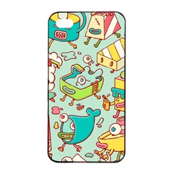 Summer Up Pattern Apple Iphone 4/4s Seamless Case (black) by Nexatart