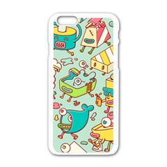 Summer Up Pattern Apple Iphone 6/6s White Enamel Case