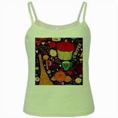 Cute Colorful Doodles Colorful Cute Doodle Paris Green Spaghetti Tank by Nexatart
