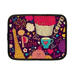 Cute Colorful Doodles Colorful Cute Doodle Paris Netbook Case (small)  by Nexatart