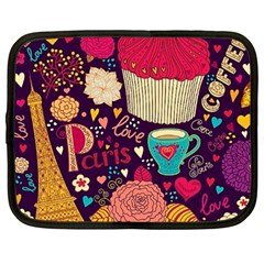 Cute Colorful Doodles Colorful Cute Doodle Paris Netbook Case (large) by Nexatart