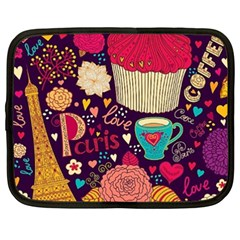 Cute Colorful Doodles Colorful Cute Doodle Paris Netbook Case (xxl)  by Nexatart