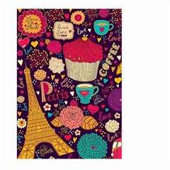 Cute Colorful Doodles Colorful Cute Doodle Paris Large Garden Flag (two Sides) by Nexatart